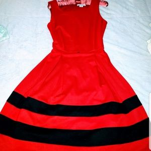 Classy Red and Black Dress